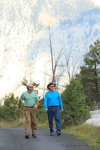 Andy and Jim take a hike at YNP