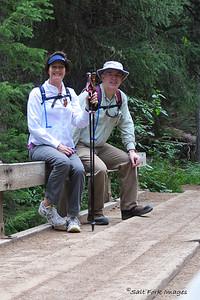 Taking a break along the South Teton Canyon Trail