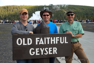 Wilson, Jim and Andy at Old Faithful - Yellowstone National Park