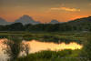 This shot of Mt. Moran at sunset was made by combining six different exposures into one High Dynamic Range image.  Oxbow Bend - Grand Teton National Park, Wyoming