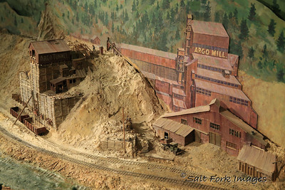 Model railroad at the Union Pacific Depot Museum in Cheyenne, Wyoming.