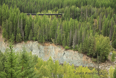 BNSF rail trestle near Goat Lick, Montana