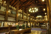 Inside the lobby at the Glacier Park Hotel in East Glacier, Montana