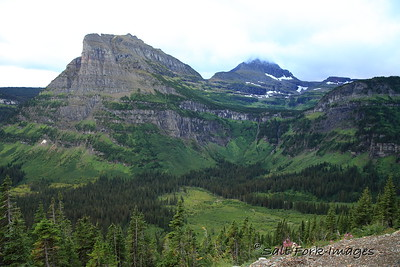 Along the Going-to-the-Sun Road in Glacier National Park - Montana
