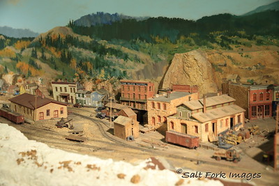 This is part of an HO-N3 model railroad on exhibit in the Union Pacific Depot Museum in Cheyenne, Wyoming.  The model railroad was built by Harry Brunk of Clarkson, Nebraska over a 30-year period.