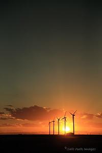 Sunset in Dumas, Texas.  Headed north...