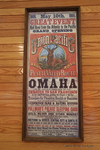 Grand Opening of the Transcontinental Railroad!  Omaha to San Francisco.  May 10, 1869.