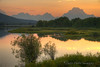 The Teton range and Oxbow Bend at sunset - Grand Teton National Park, Wyoming