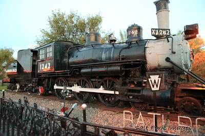 Union Pacific 1242 was the oldest steam locomotive to operate in Wyoming.  This 4-6-0 coal-fired engine was built in 1890.