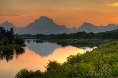 Mt. Moran reflected in the waters at Oxbow Bend - Grand Teton National Park, Wyoming