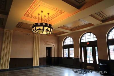 Interior of the Union Pacific Depot in Cheyenne, Wyoming.