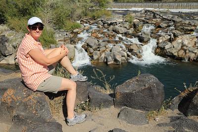 Jill kicking back by the Snake River in Idaho Falls, Idaho