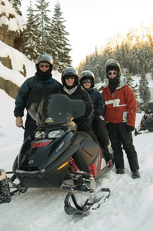 The Albritton Family survived a 75-mile snowmobile tour on December 29th.  It was our first time but definitely won't be our last!