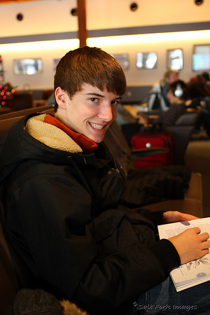 """Aaron read, """"The 7 Habits of Highly Effective Teens.""""  We made him do it."""