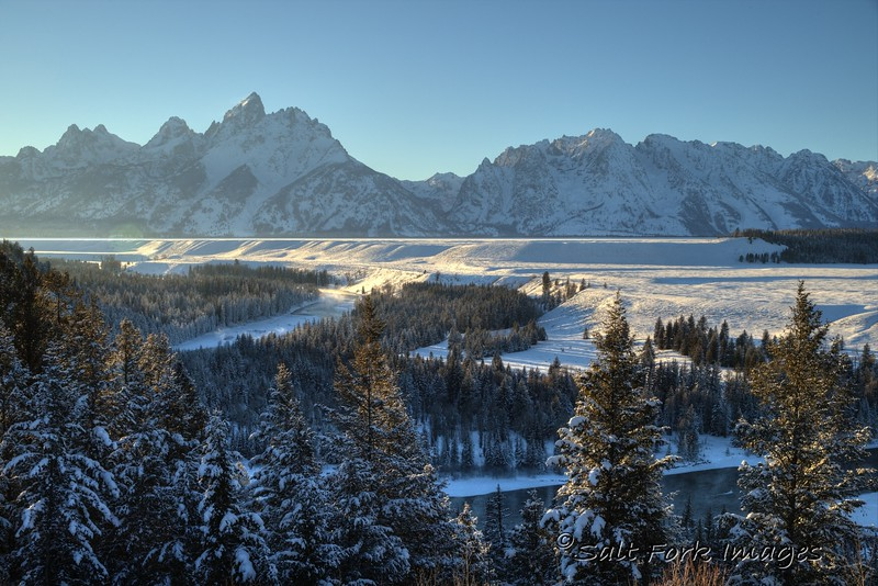 Teton Range from the Snake River Overlook - Grand Teton National Park - Jackson Hole, Wyoming - Temperature was -17°F when I took this photograph.