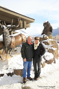 Jill and me at the Greater Yellowstone Visitors Center in Jackson, Wyoming