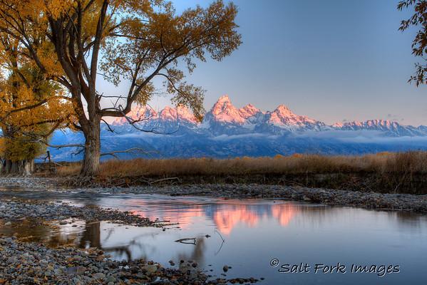 Sunrise in the Tetons from Antelope Flats - Grand Teton National Park, Jackson Hole, Wyoming.
