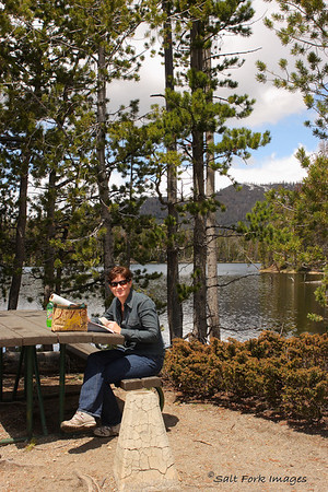 Jill and I enjoyed a picnic lunch on the banks of Sylvan Lake in Yellowstone National Park.