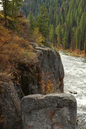 Looking downstream at Upper Mesa Falls near Island Park, Idaho.