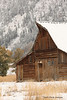 Moulton Barn with Blacktail Butte in the background.  Grand Teton National Park, Wyoming.