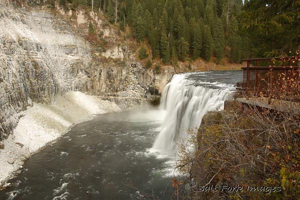 Upper Mesa Falls near Island Park, Idaho.
