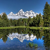 June 2009.  Note how much snow is on the mountains in June compared to some of the summer photographs that I have taken later in the year.  Schwabacher's Landing - Grand Teton National Park.