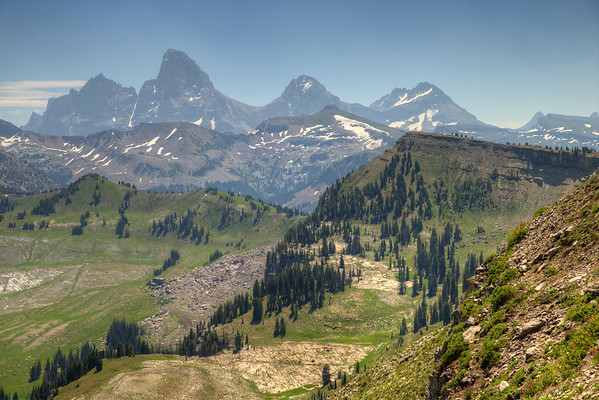 West side of the Teton Range from Fred's Mountain - Grand Targhee, Wyoming