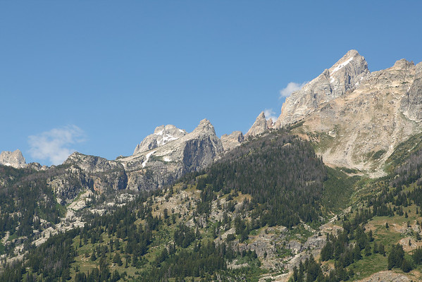 Disappointment Peak (center) and Grand Teton Peak on top