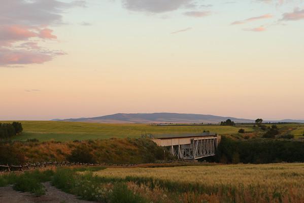 Fall River Railroad Trestle (now in use as a bicycle trail) - near Ashton, Idaho