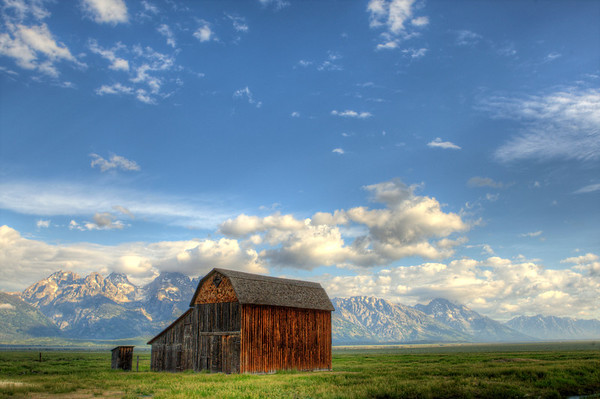 That other barn on Mormon Row.  Grand Teton National Park - Jackson Hole, Wyoming - July 2013
