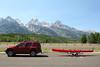 Enjoyed the day on String Lake and Jackson Lake in Grand Teton National Park with this rented kayak.  Fun times!
