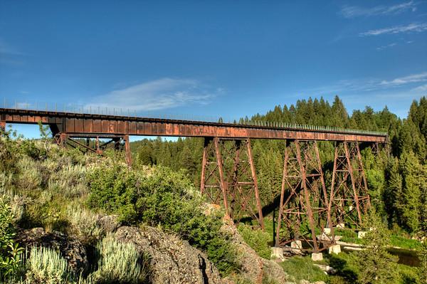 Bitch Creek Trestle on The Oregon Short Line between Ashton and Tetonia