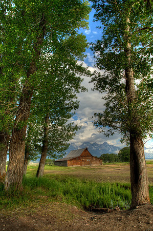 Moulton Barn on Mormon Row.  Grand Teton National Park - July 2013