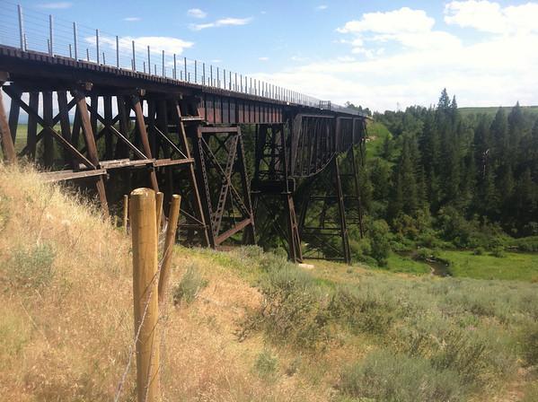 Ashton to Tetonia RailTrail - Conant Creek Trestle