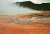 Colorful microbes at Grand Prismatic Spring - Midway Geyser Basin - YNP.