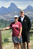 Greg and Karen are always reppin' for the Aggies.  Fred's Mountain, Alta, Wyoming