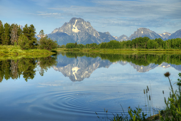 Ripples on the Reflection - Oxbow Bend and Mount Moran - Grand Teton National Park, Wyoming