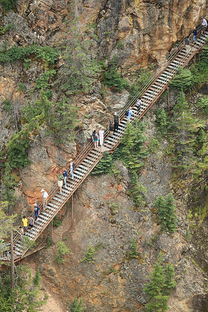 Stairway to Heaven - trail to the south rim overlook - Grand Canyon of the Yellowstone