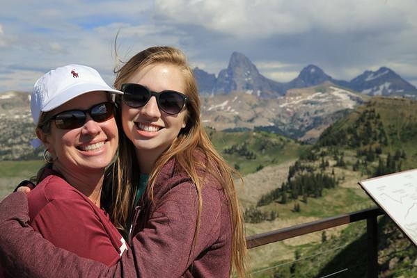 Karen and Callie embrace the mountain air.