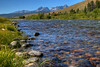 Salmon River and the Sawtooth Mountains near Stanley, Idaho