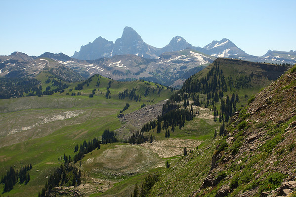 A view of the west side of the Teton Range off the back of Fred's Mountain.