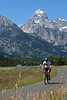 Aaron enjoys the bike path from Jenny Lake to Moose.