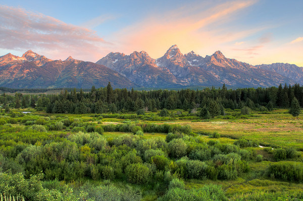 Last morning of the summer in Grand Teton National Park.  It was 34 degrees as I stood at the Blacktail Ponds Overlook.