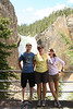 My people enjoying the view at the bottom of Uncle Tom's Trail in Yellowstone National Park.