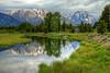 Reflections of the Tetons - Schwabacher's Landing - GTNP