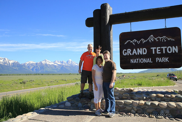 The whole gang posing in Jackson Hole