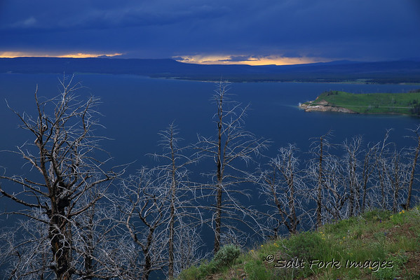 Sunset after the storm at Yellowstone Lake