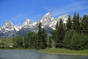 The Teton Range from a raft on the Snake River - Grand Teton National Park - Wyoming