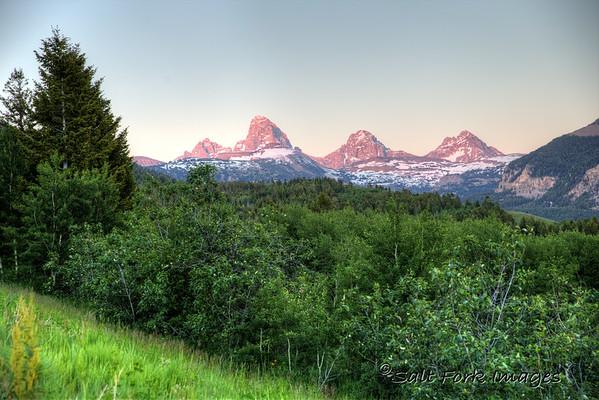 Evening on the way to Targhee - Teton Valley, Idaho