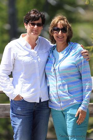 Jill and Victoria at Kepler Cascades - YNP